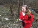 ... ja tutustuttiin ympäristöön. Kuvassa tukihenkilömme Johanna Laakso...
